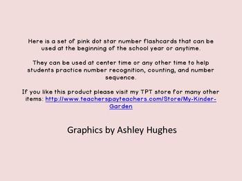 Pink Dot Star Number Flashcards 0-100