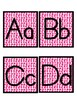 Pink Dots Word Wall Letters