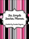 The Simple Teacher Planner - Pink Stripes