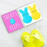 Pink Easter Treats for My Peeps Printable Bag Toppers, Eas
