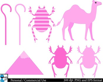 Pink Egypt Digital Clip Art Graphics 26 images cod134
