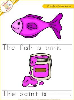 Pink - File Folder Activity Set