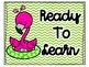 Pink Flamingo Chevron Behavior Clip Chart