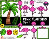 Pink Flamingo ClipArt - Cute Flamingo Clipart - Flamingos Habitat