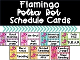 Pink Flamingo Polka Dot Schedule Cards