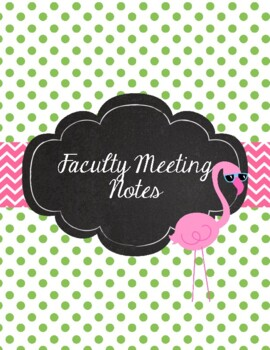 Flamingo Teacher Binder 2017-2018 Pink, Green, Cute Preppy