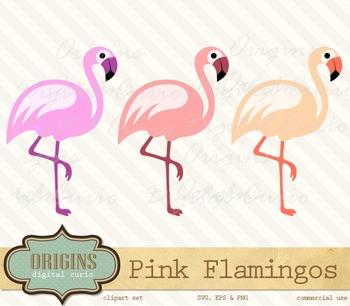 Pink Flamingos Clipart