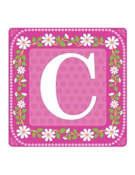 Pink Floral Capitals