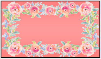 Pink Floral Name Tags