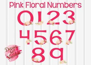 Pink Floral Numbers