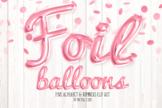 Pink Foil Balloon Script Alphabet