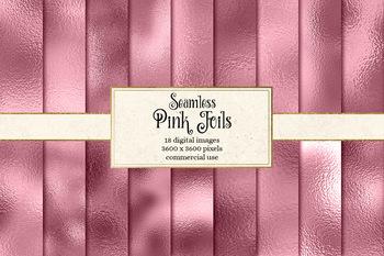 Pink Foil digital paper, seamless metallic textures