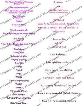 Pink GLAM scriptures 2