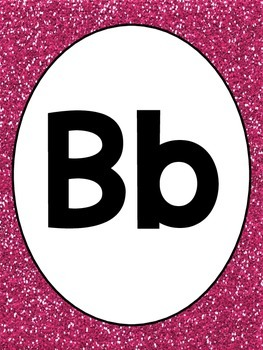 Pink Glitter Alphabet and Numbers