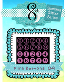 Pink Glitter Button Numbers 0 - 9