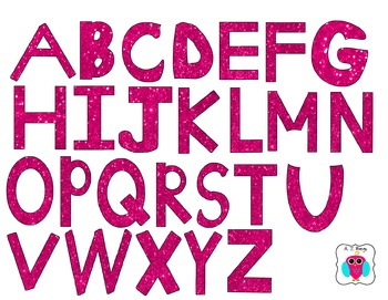 Pink Glitter Letters