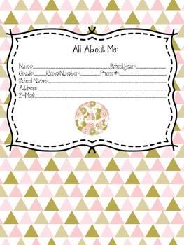 Pink & Gold Teacher Planner/Binder