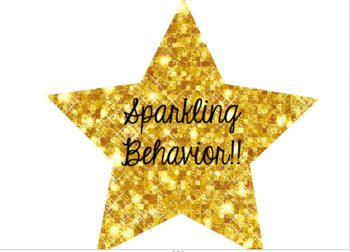 Pink & Gold Themed Sparkling Behavior Chart