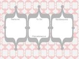 Pink & Gray Bracket Desktop Background