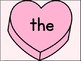 Pink Heart Fry List 1 In 1st 100 High Frequency Sight Word Posters & Flashcards