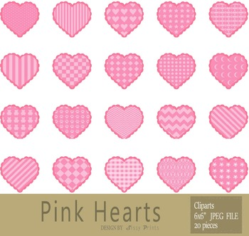 Pink Heart Illustrations and Clip Arts