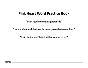 Nellie Edge Pink Heart Word Practice Book