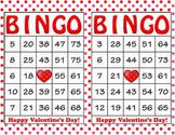 Pink Red Polka Dot Valentine's Day Bingo - 100 Printable B