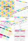 Pink Hexagons Planner Template