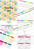 Pink Hexagons Planner Template