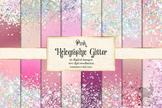 Pink Holographic Glitter Digital Paper