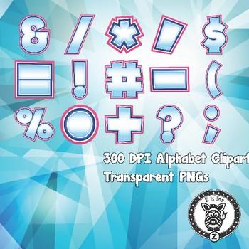 Pink Ice Alphabet Alpha Clip Art