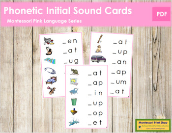 Pink: Phonetic Initial Sound Cards