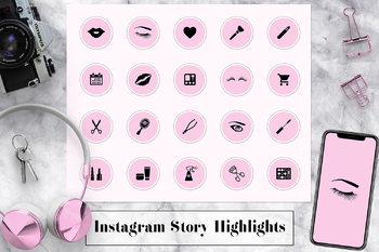 Pink Instagram Story Highlights Icons