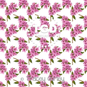 Pink Jasmine digital paper Printable Tracey Gurley Designs