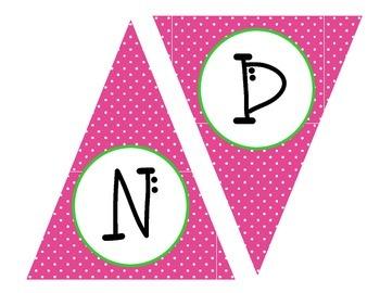Pink Kindergarten Banner