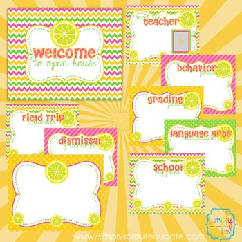 Pink Lemonade Back to school Open House Presentation templates
