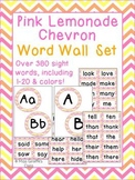 Pink Lemonade Chevron Word Wall Letters Headers and Words