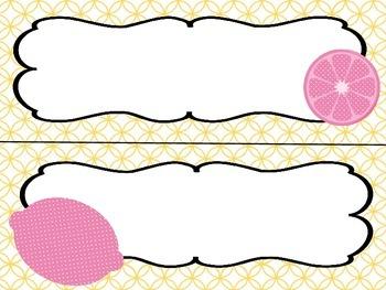 Pink Lemonade Classroom Decor Set