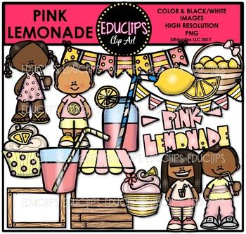 Pink Lemonade Clip Art Bundle {Educlips Clipart}