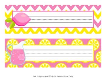 Pink Lemonade Desk Name Plates
