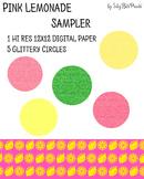 Pink Lemonade Paper and Glitter Shapes