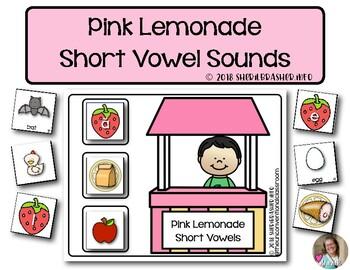 Pink Lemonade Short Vowel Sounds     Phonics   Literacy