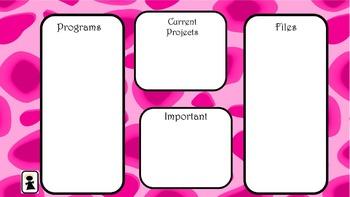 Pink Leopard Desktop Organizer