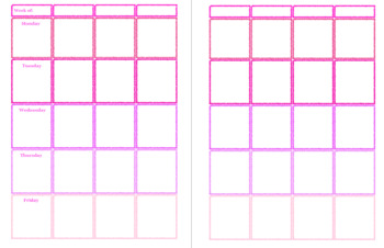Pink Lesson Planner