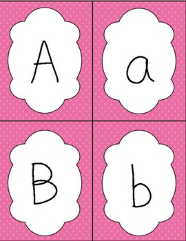 Pink Letter and Number Flash Cards