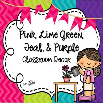 Pink, Lime Green, Purple & Teal Decor