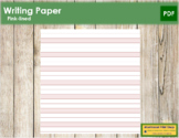Pink-Lined Writing Paper - Primary Montessori