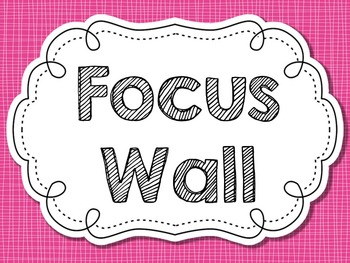 Pink Linen Focus Wall {White}