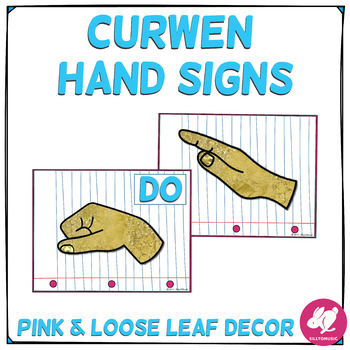Blue, Pink, & Loose Leaf Decor: Curwen Hand Signs