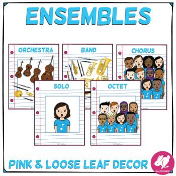 Blue, Pink, & Loose Leaf Decor: Ensembles